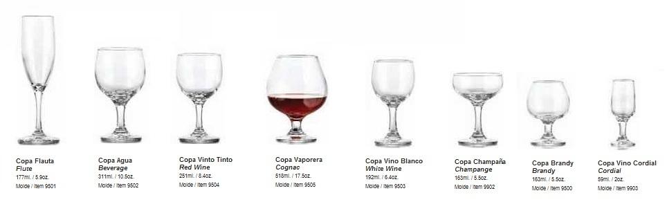 Productos para restaurante y bar grupo mar n for Cristaleria copas